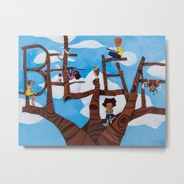 BELIEVE tree Metal Print