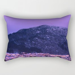 Dusk on Løvstakken in Bergen, Norway Rectangular Pillow