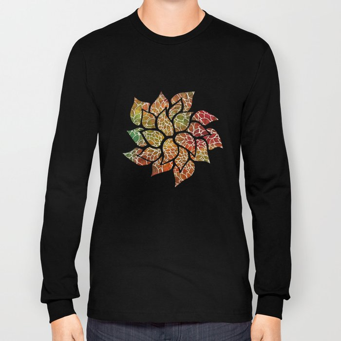 Floral Abstract 15 Long Sleeve T-shirt