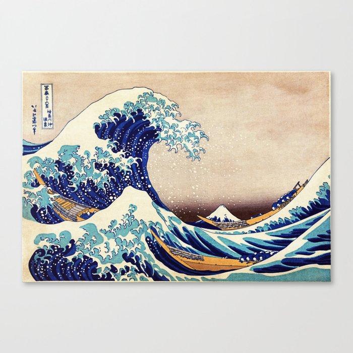 The Great Wave Off Kanagawa Leinwanddruck