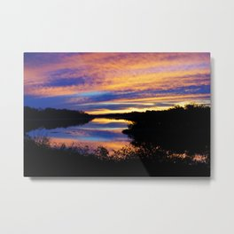 Reflections Of Sunrise On Lake Manatee Series (2) Metal Print