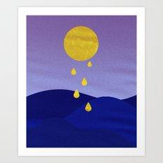 Golden Blood Art Print