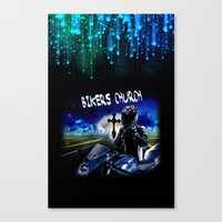 discount Canvas Prints featuring Bikers Church Discount by Paint-Shack Design