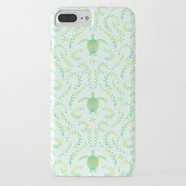 Sea Turtle Watercolor Pattern iPhone Case