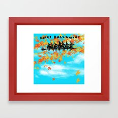 Seven Witches on a Broom.  Framed Art Print