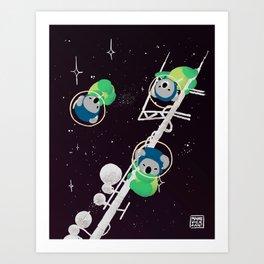 Space Koalas Art Print