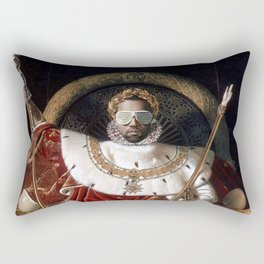 The Emperor Sits on His Throne Rectangular Pillow