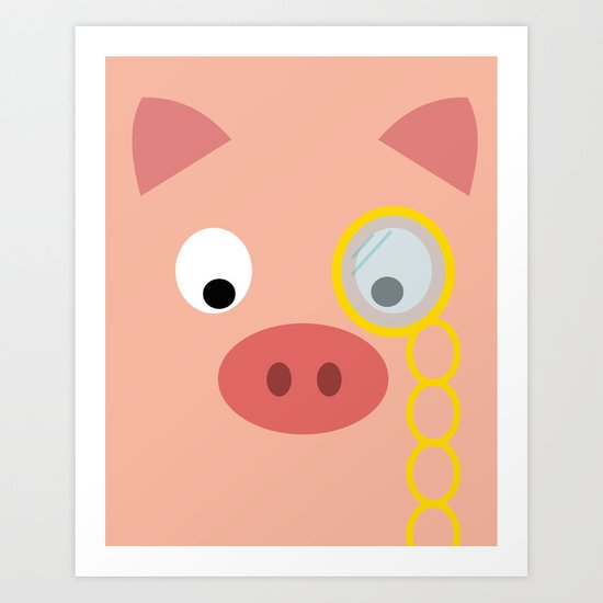 Fancy Pig Art Print