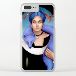 Skin of the Fox, Cures the Pox Clear iPhone Case