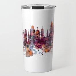 New York Skyline Silhouette Travel Mug
