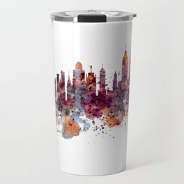 New York Skyline Silhouette Travel Mug