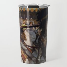 Knights jousting Travel Mug