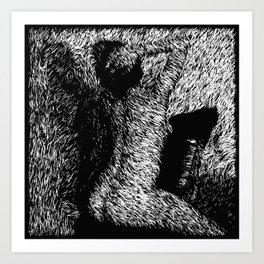 Figure Seated on Chair Art Print