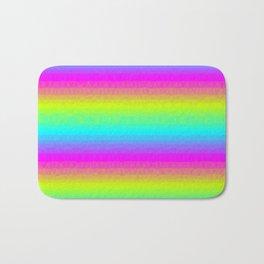 Neon Stripes Bath Mat