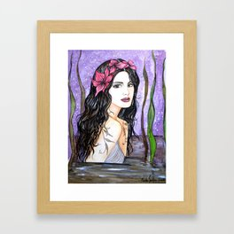 Lake Fairy Framed Art Print