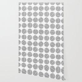 ELEGANT AND ABSTRACT MONOCHROME POLKA DOT Wallpaper