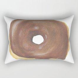 Chocolate Iced Doughnut Rectangular Pillow