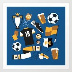Football Fan Art Print