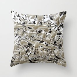 Snow Geese at Bosque del Apache National Refuge Throw Pillow