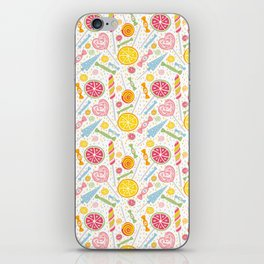 Abstract hand painted yellow pink orange sweets fruit pattern iPhone Skin