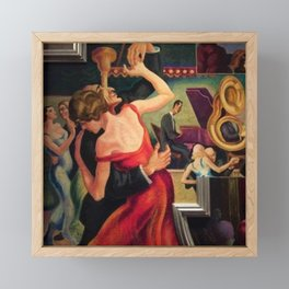 Classical Masterpiece Couple Dancing to Favorite Song by Thomas Hart Benton Framed Mini Art Print