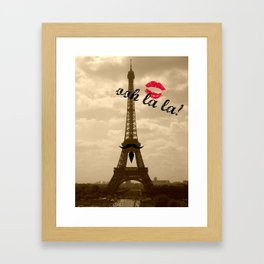 ooh la la Framed Art Print