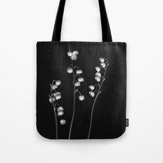 Lily of the Valley Noir Tote Bag