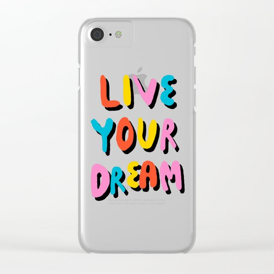 Ya Heard - 1980's throwback retro pattern memphis-style hipster bright colorful pop art minimal rad Clear iPhone Case