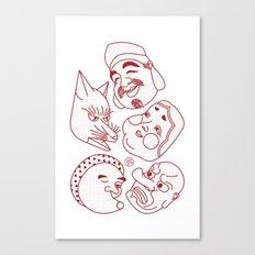 Japanese Masks Canvas Print