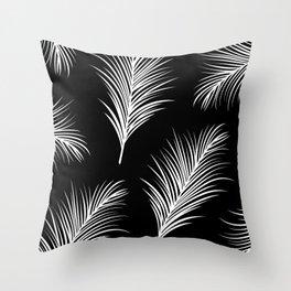 Palm Leaves Print Throw Pillow