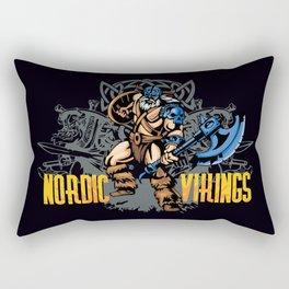 Nordic Vikings Rectangular Pillow