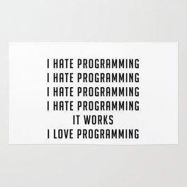 I love programming - Funny Programmer Edition Rug