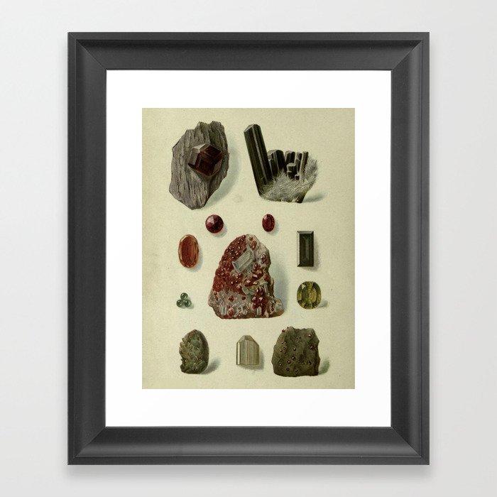 Garnet Minerals Gerahmter Kunstdruck