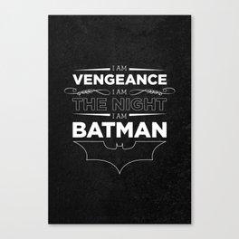Bat Man Daily Affirmation Canvas Print