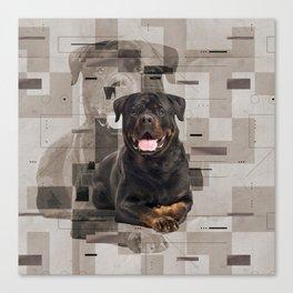 Rottweiler  - Metzgerhund Digital Art Canvas Print