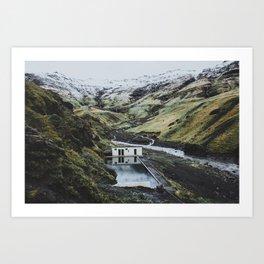 Seljavallalaug, Iceland Art Print