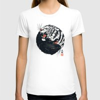 tiger T-shirts featuring Taichi Tiger by Steven Toang