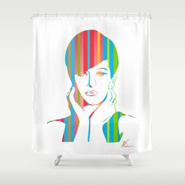 Barbra Streisand | Pop Art Shower Curtain