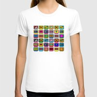 8 bit T-shirts featuring 8-bit Game Cartridges by Raven Jumpo