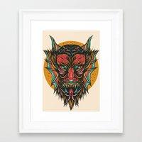 demon Framed Art Prints featuring Demon by MIRKOW GASTOW