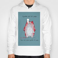 cigarettes Hoodies featuring Cigarettes don't kill people. by Jason Vaughan