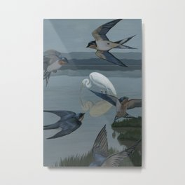 The Barn Swallows' Welcome Metal Print