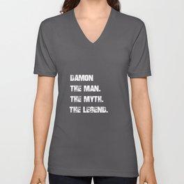 Damon The Man The Myth The Legend Unisex V-Neck