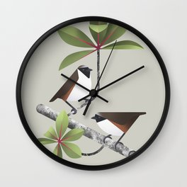 Poo-uli (cln) Wall Clock