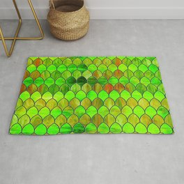 Green Stained Glass Rug