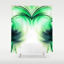 abstract fractals mirrored reacmagi Shower Curtain
