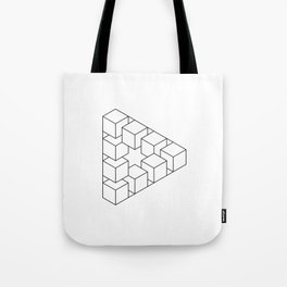 #01 Impossible geometry  - triangle made by cubes Tote Bag