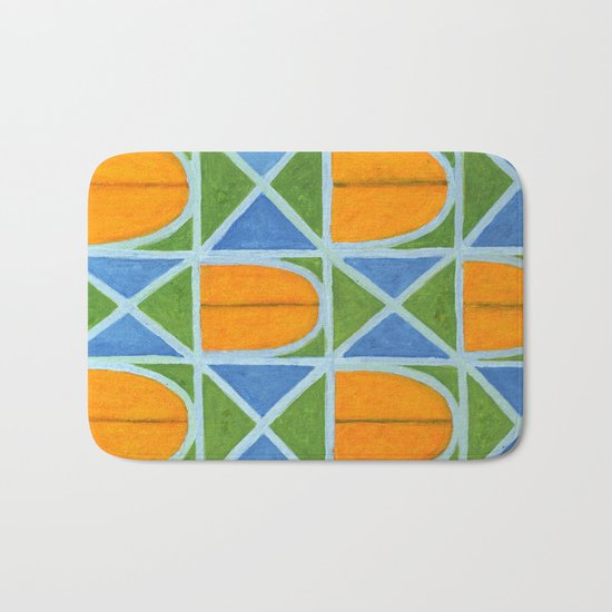 Lighted Arched Windows Pattern Bath Mat