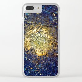 Golden ice Clear iPhone Case