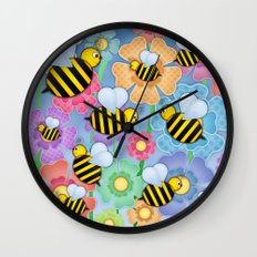 Busy Buzzers. Wall Clock